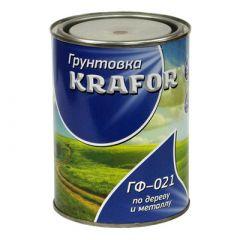 Грунтовка адгезионная Krafor ГФ-021 по дереву и металлу красно-коричневая 0,8 кг