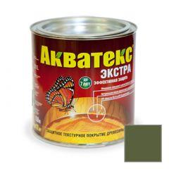 Защитно-декоративное покрытие Акватекс Экстра для древесины еловая зелень 0,8 л