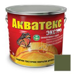 Защитно-декоративное покрытие Акватекс Экстра для древесины еловая зелень 3 л