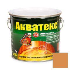 Защитно-декоративное покрытие Акватекс для древесины груша 3 л
