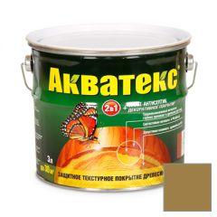 Защитно-декоративное покрытие Акватекс для древесины дуб 3 л