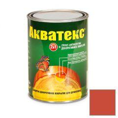 Защитно-декоративное покрытие Акватекс для древесины рябина 0,8 л