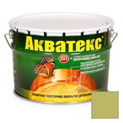 Защитно-декоративное покрытие Акватекс для древесины папоротник 10 л