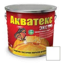 Защитно-декоративное покрытие Акватекс Экстра для древесины белый 3 л