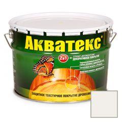 Защитно-декоративное покрытие Акватекс для древесины белый 10 л