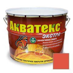 Защитно-декоративное покрытие Акватекс Экстра для древесины рябина 10 л