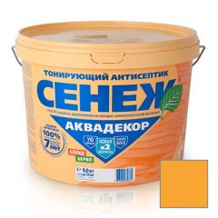 Защитно-декоративное покрытие Сенеж Аквадекор 105 Калужница 9 кг