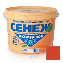 Защитно-декоративное покрытие Сенеж Аквадекор 107 Каштан 9 кг