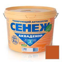 Защитно-декоративное покрытие Сенеж Аквадекор 109 Орех 9 кг