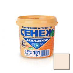 Защитно-декоративное покрытие Сенеж Аквадекор 101 Иней 0,9 кг