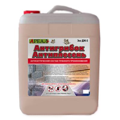 Антисептический состав Ареал+ Антигрибок Антиплесень по бетону 5 л