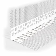 Профиль угловой ПВХ перфорированный с сеткой 2500 мм