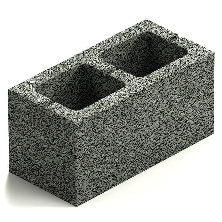 Блок керамзитобетонный двухпустотный Steingot М50 390х190х188 мм