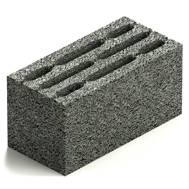 Блок керамзитобетонный восьмищелевой Steingot М75 390х190х188 мм