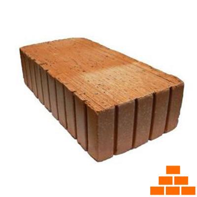 Кирпич строительный КЗ Алексинский одинарный полнотелый рифленый М-150