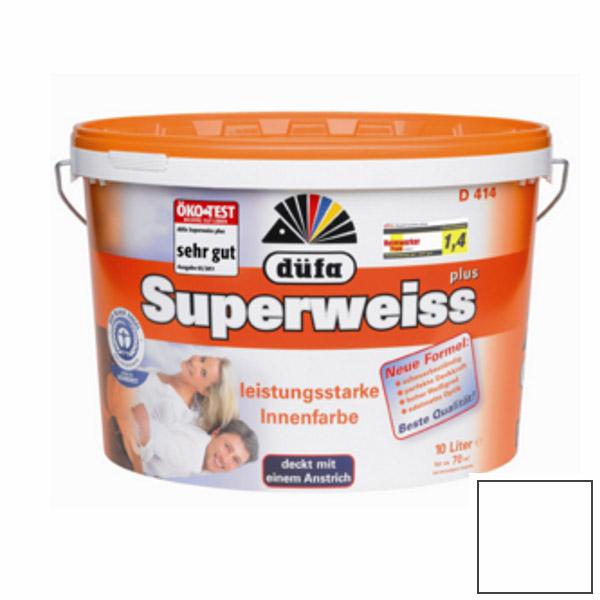 Краска Dufa Superweiss D 4 универсальная супербелая 10 л