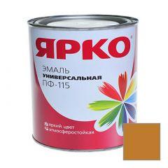Эмаль Ярославские краски ПФ-115 ЯРКО универсальная желто-коричневая 0,9 кг