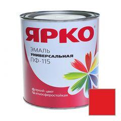 Эмаль Ярославские краски ПФ-115 ЯРКО универсальная красная 0,9 кг