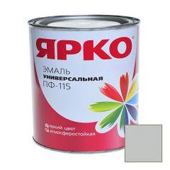 Эмаль Ярославские краски ПФ-115 ЯРКО универсальная светло-серая 0,9 кг