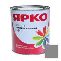 Эмаль Ярославские краски ПФ-115 ЯРКО универсальная серая 0,9 кг