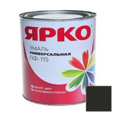 Эмаль Ярославские краски ПФ-115 ЯРКО универсальная черная глянцевая 1,9 кг