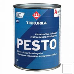 Эмаль алкидная Tikkurila Pesto 30 полуматовая А 0,9 л