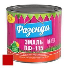 Эмаль Ленинградские краски ПФ-115 Фазенда красная 20 кг