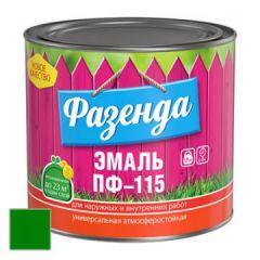 Эмаль Ленинградские краски ПФ-115 Фазенда зеленая 20 кг