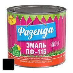 Эмаль Ленинградские краски ПФ-115 Фазенда черная 20 кг