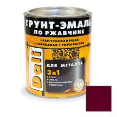 Грунт-эмаль Dali по ржавчине 3 в 1 для металла RAL 3005 Винно-красная 2 л