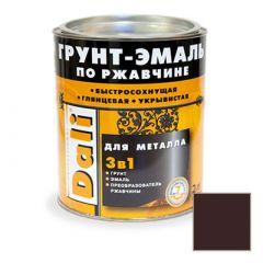 Грунт-эмаль Dali по ржавчине 3 в 1 для металла RAL 8017 Коричневый 2 л