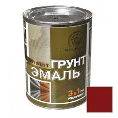 Грунт-эмаль РадугаМалер по ржавчине 3 в 1 для металла Красно-коричневый 1,9 кг