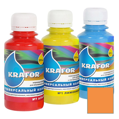 Колер Krafor универсальный апельсин 0,1 л
