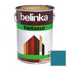Декоративное покрытие Belinka Toplasur с воском №20 голубое 10 л