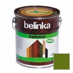 Декоративное покрытие Belinka Toplasur с воском №19 зеленое 2,5 л