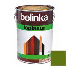 Декоративное покрытие Belinka Toplasur с воском №19 зеленое 10 л