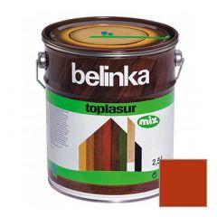 Декоративное покрытие Belinka Toplasur с воском №18 красное 2,5 л
