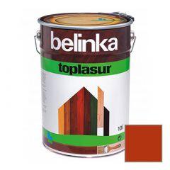 Декоративное покрытие Belinka Toplasur с воском №18 красное 10 л