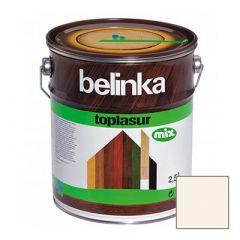 Декоративное покрытие Belinka Toplasur с воском №11 белое 2,5 л