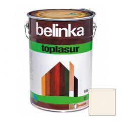 Декоративное покрытие Belinka Toplasur с воском №11 белое 10 л
