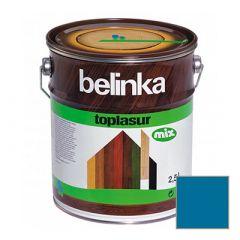 Декоративное покрытие Belinka Toplasur с воском №72 санториново-синее 2,5 л