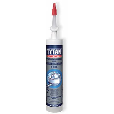 Герметик силиконовый Tytan для акриловых ванн и ПВХ белый 310 мл