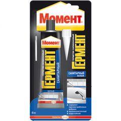 Герметик силиконовый санитарный Момент Гермент белый 85 мл