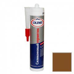 Герметик силиконовый ОЛИМП универсальный коричневый 290 мл
