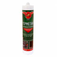 Герметик силиконовый Поли-Р термостойкий красный 280 мл
