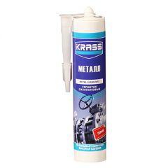 Герметик силиконовый Krass для металла серый 300 мл
