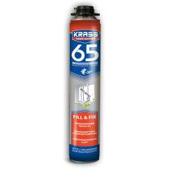 Пена монтажная Krass Home Edition 65 пистолетная с увеличенным выходом 840 мл