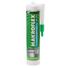 Герметик силикон санитарный Makroflex SX101 прозрачный 290 мл