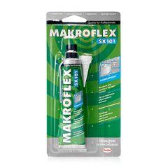 Герметик силикон санитарный Makroflex SX101 прозрачный 85 мл