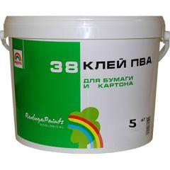 Клей строительный Радуга 38 ПВА прозрачный 5 кг